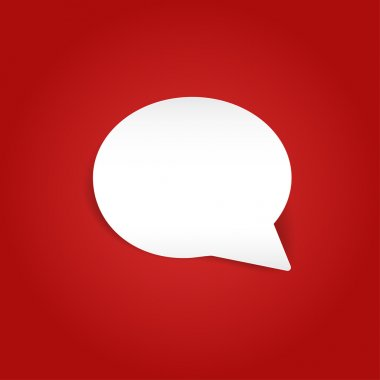Speech bubbles on red background. Vector illustration.