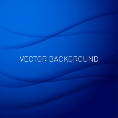 Abstract blue vector background with place for text. stock vector