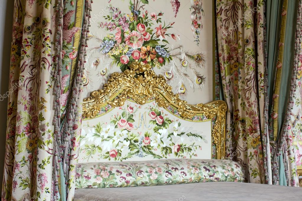 Fantastisch Queen Schlafzimmer Und Elemente Der Dekoration U2014 Stockfoto