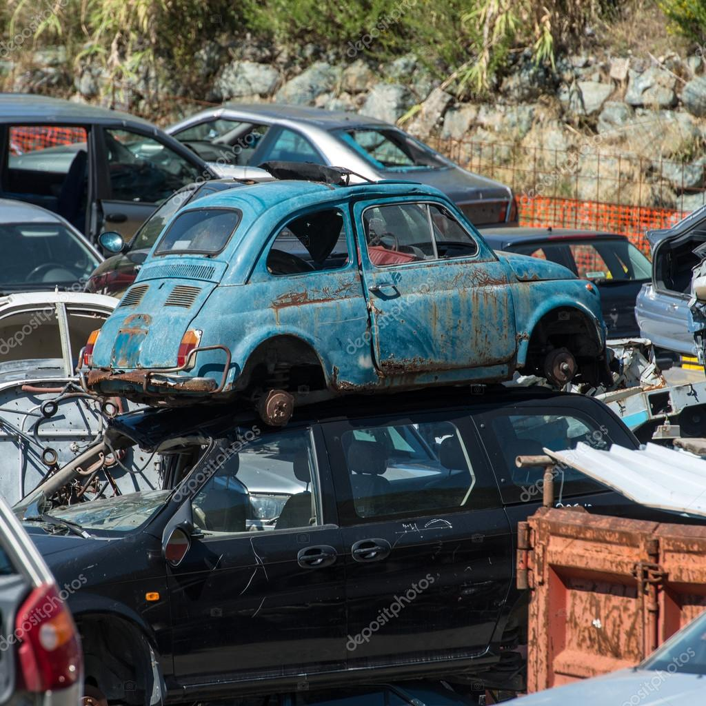 Old cars in the junkyard — Stock Photo © giovannicaito2 #31174259