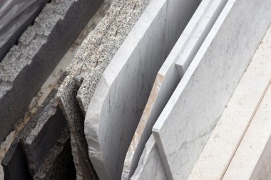 Group of marble slabs