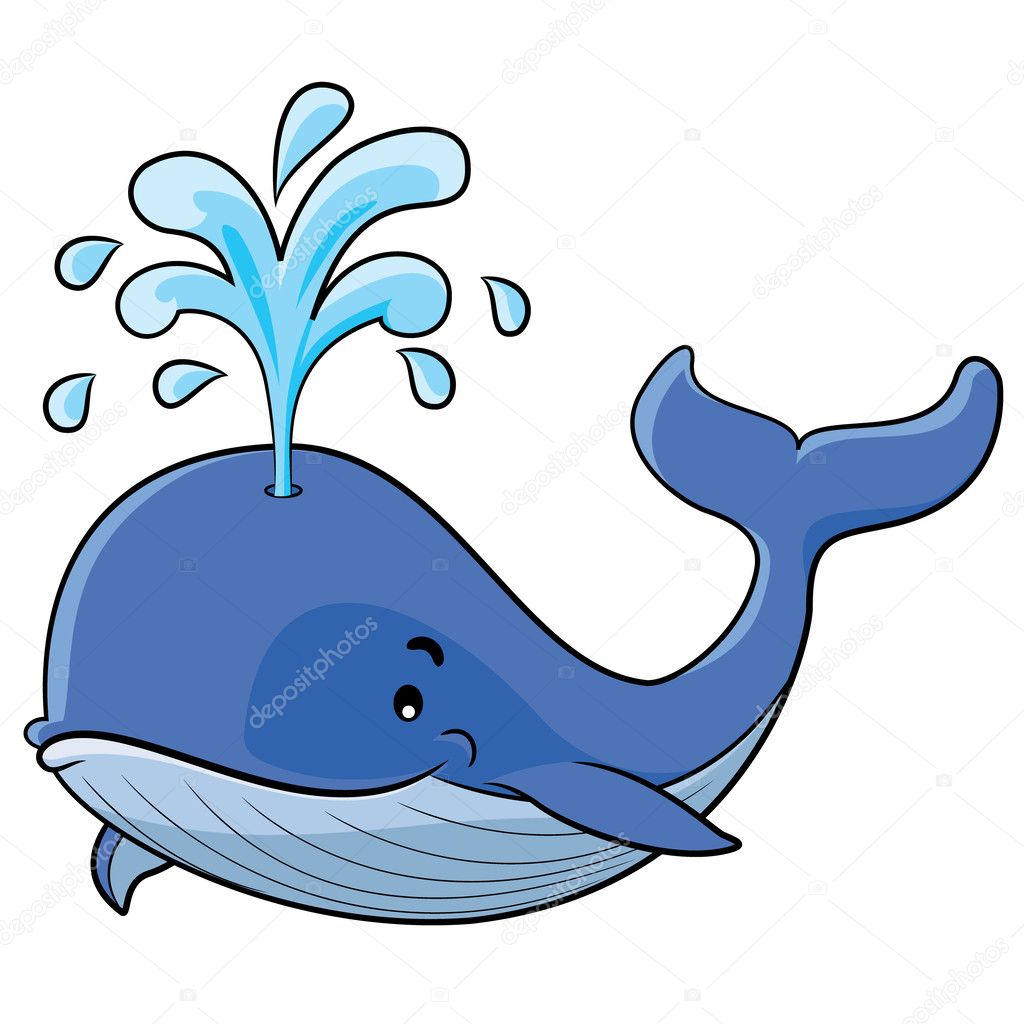illustration of cute cartoon whale vector by rubynurbaidi