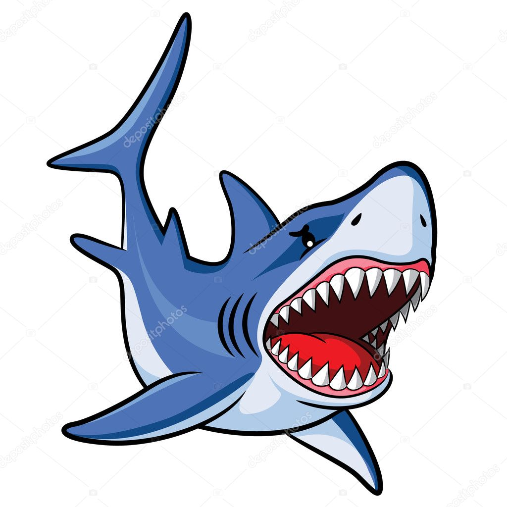 Shark Cartoon Vector Image By C Rubynurbaidi Vector Stock 37771753