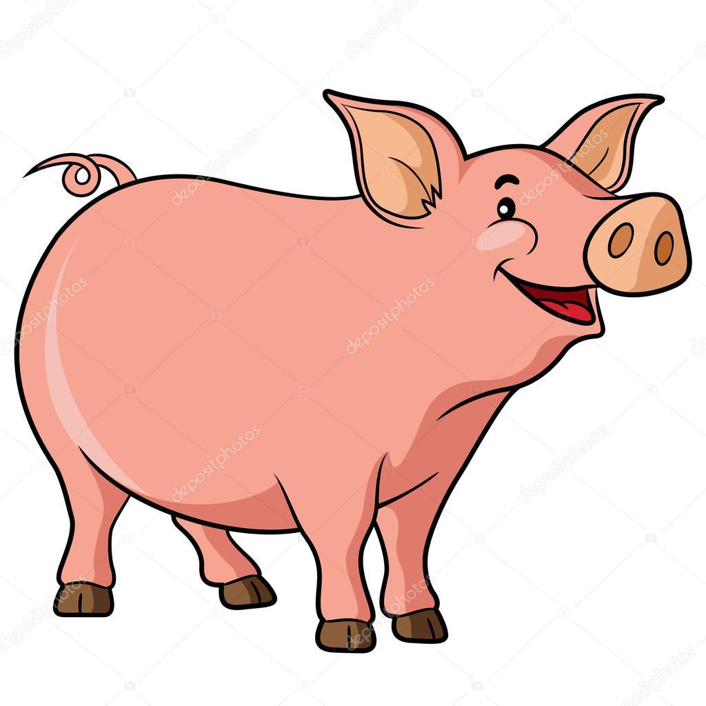 tecknad gris rollfigur