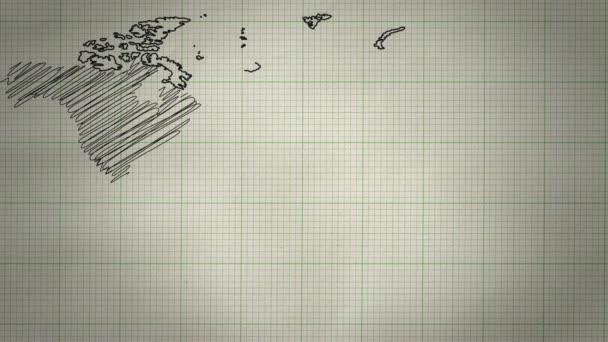 mapa světa pozadí výkresu