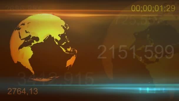 gelb Globus Rotation Hintergrund