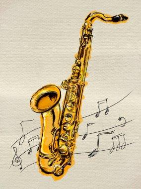 Saxophone Painting Image