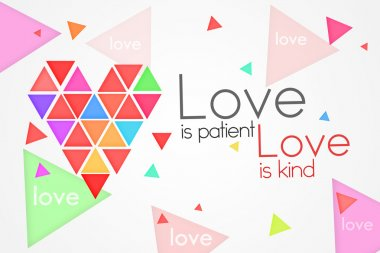 Love is Patient Love is Kind - White background