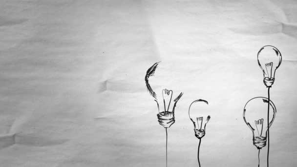 Skizzieren Sie viele Lampen mit Alphamaske Schleifen animation