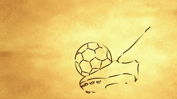 Kick Ball Sketch Looping Animation with alpha matte