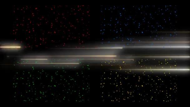 Alta Definizione Sfondi Di Movimento Delle Particelle Video