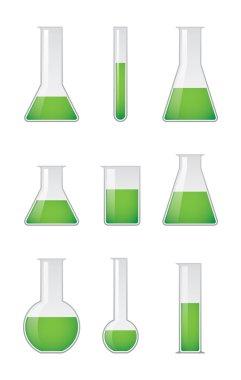 A set fo test tube vectors stock vector