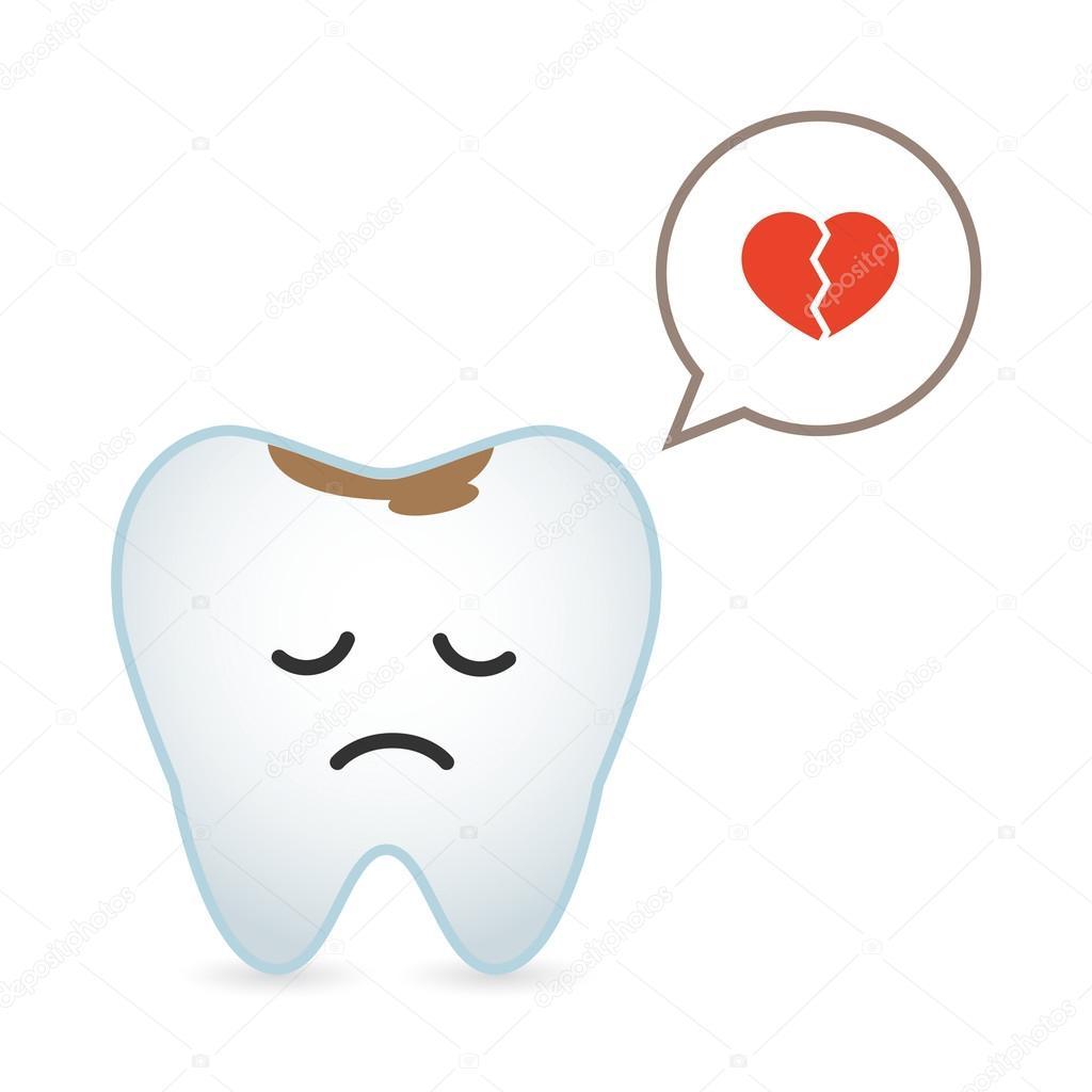 A tooth illustration with comic balloon clipart vector