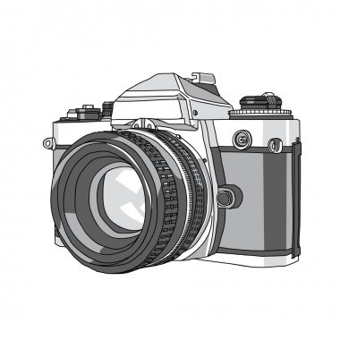 Camera, Hand Drawn of Vector Camera, illustration of camera