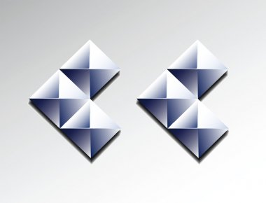 Arrows of diamonds