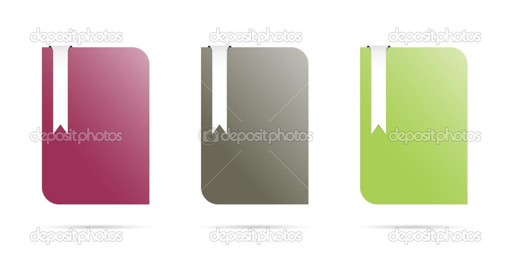 Farbe-Vorlagen mit Lesezeichen — Stockvektor © madtom #30783045