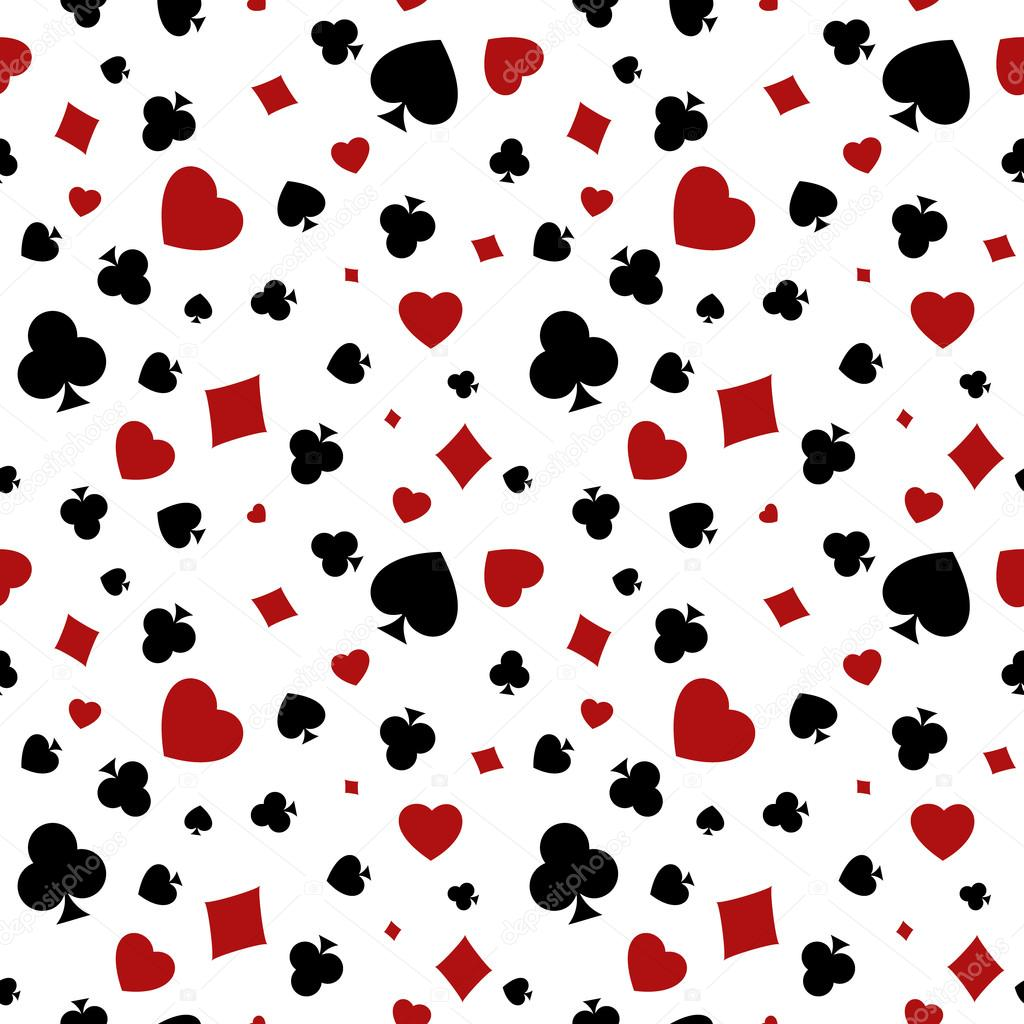 Poke Live Dcf Shapes: Heart, Diamond, Spade And Clubs Background
