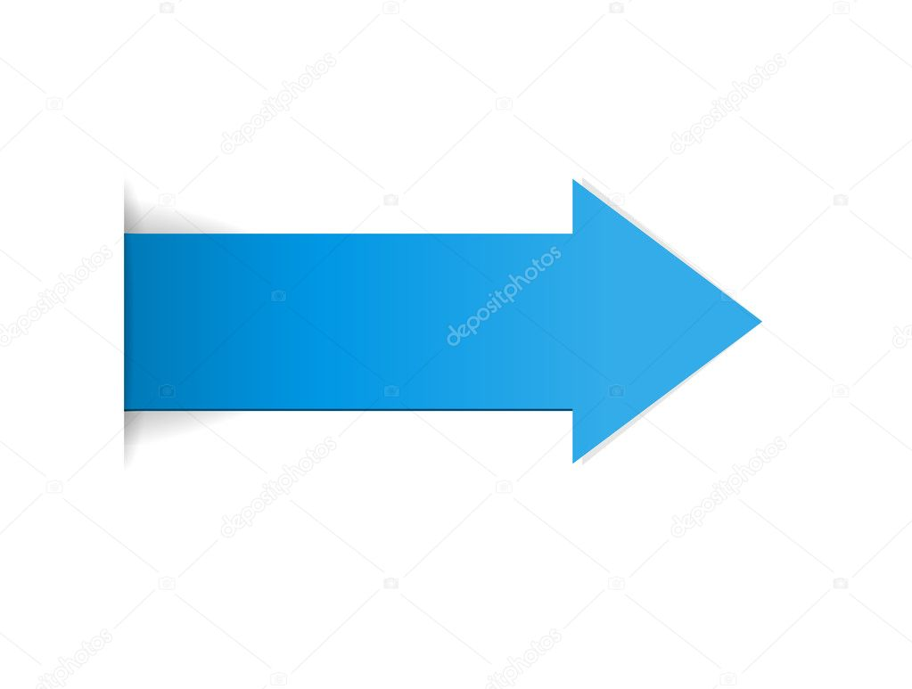 The blue arrow