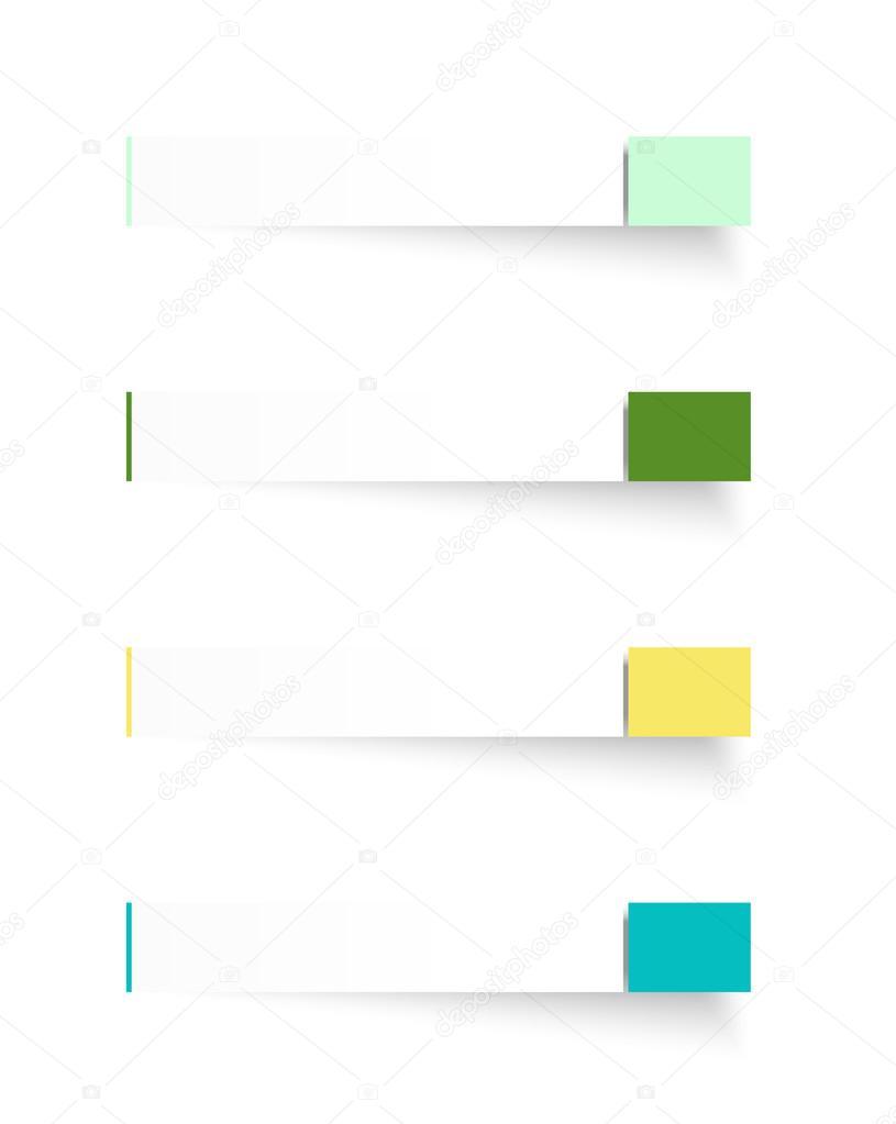 Rechteck Vorlagen mit tag — Stockvektor © madtom #31370063