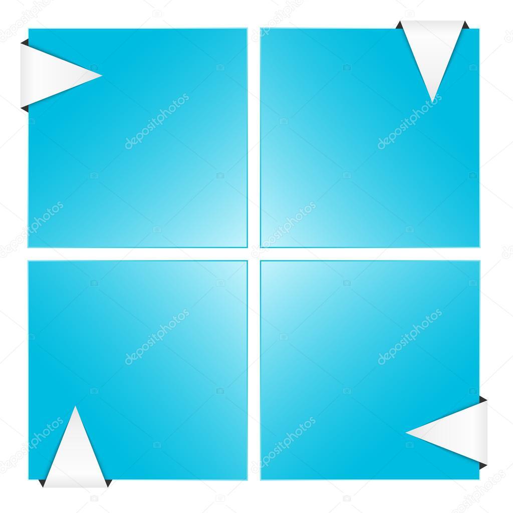 die vier leere Quadrat Vorlage — Stockvektor © madtom #32951439