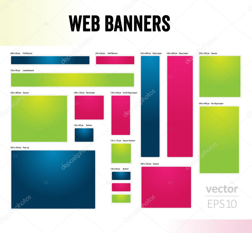 The set of web banners templates — Stock Vector © madtom #34832179