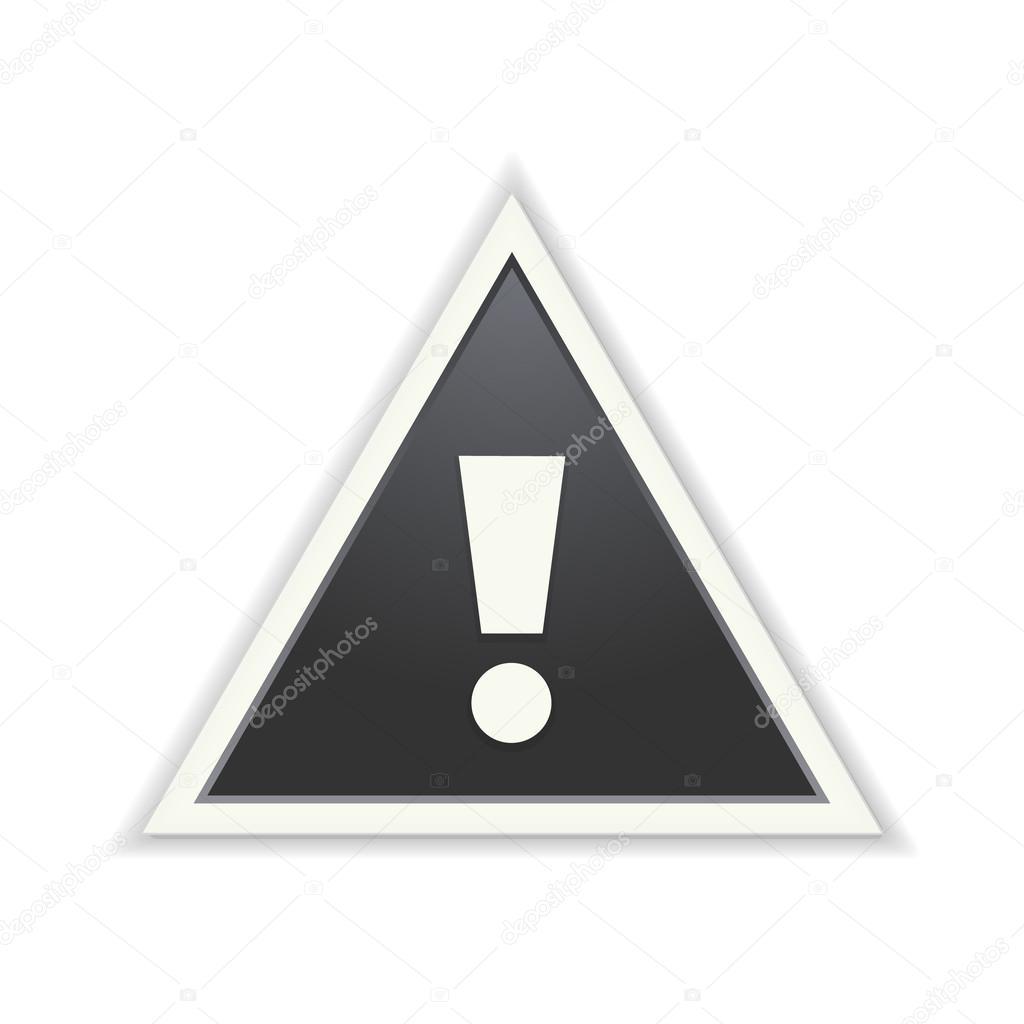 С знаком треугольник датчик восклицательным