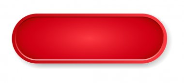 The blank red oval button ready for your text clip art vector