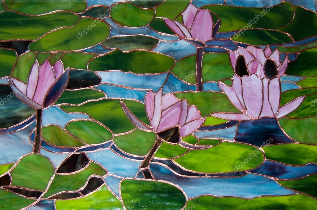 Water Lily Stained Glass Pattern