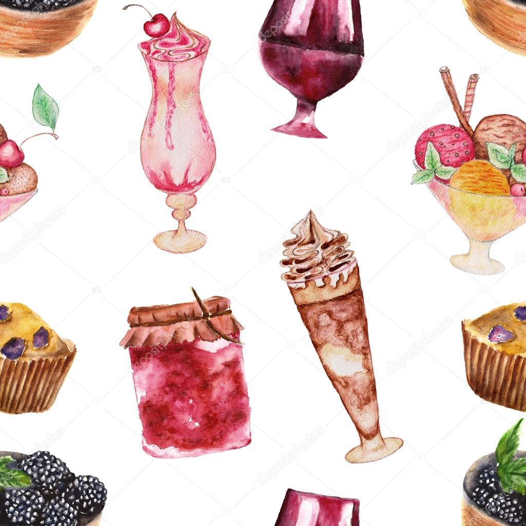 nahtlose Dessert Häkelanleitung set — Stockfoto © Rina_Ro #44933325