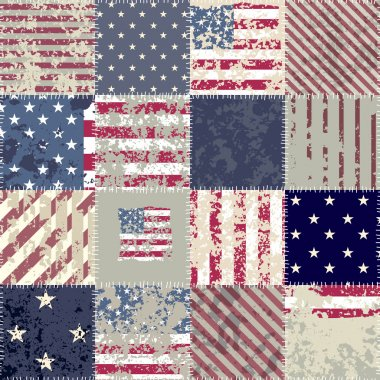 The patchwork of flag USA