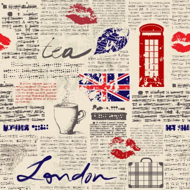 Seamless background pattern. Newspaper