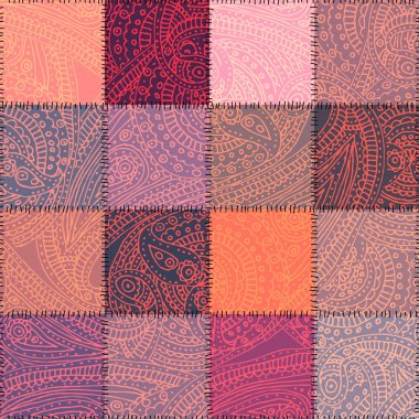 Pink patchwork with paisley