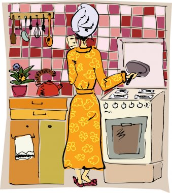 Funny housewife