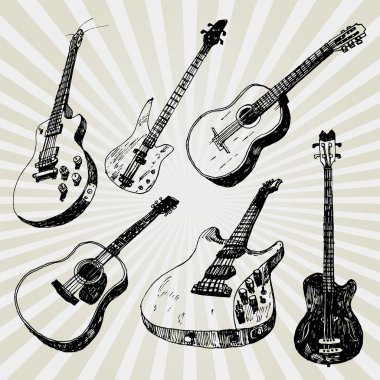 Doodled Guitars