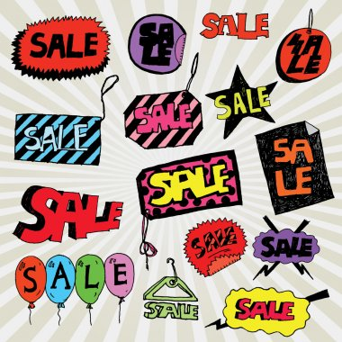 Set of Sale Banners Colorful