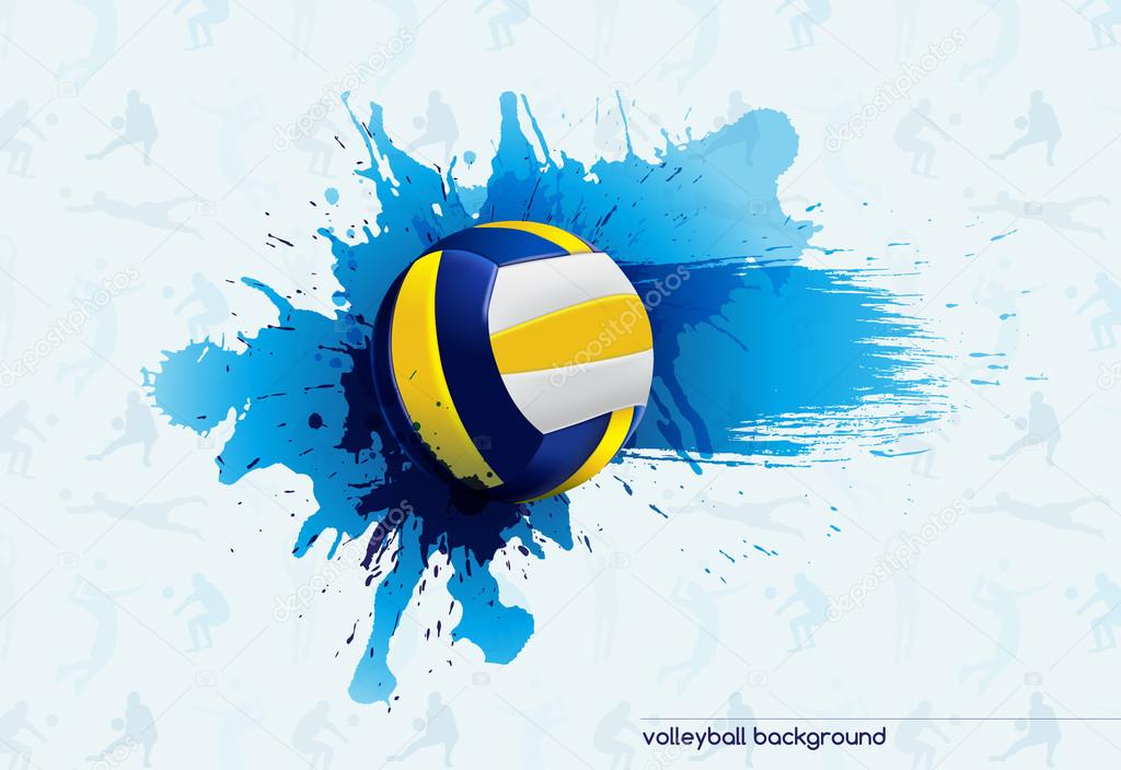 Abstract Grungy Background Volleyball Arrowhead Stock: Volleyball Backrounds