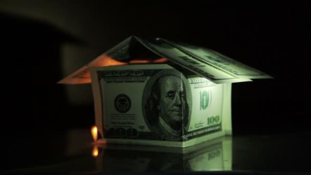 Geld Dollar verbrennen