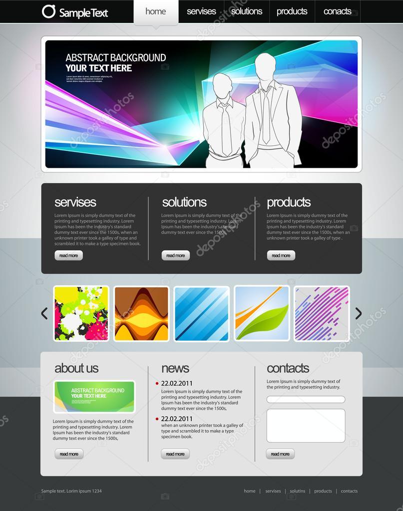 2bb1924e2ee7c sitio web de negocios plantilla — Archivo Imágenes Vectoriales ...