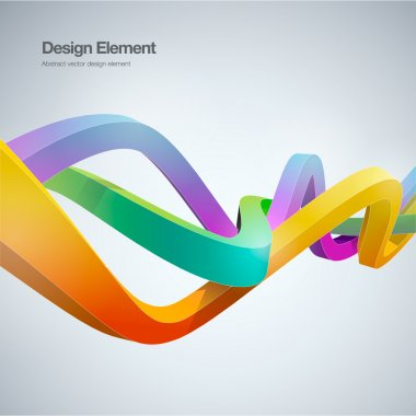 Modern abstract background ribbon style Vector illustration.