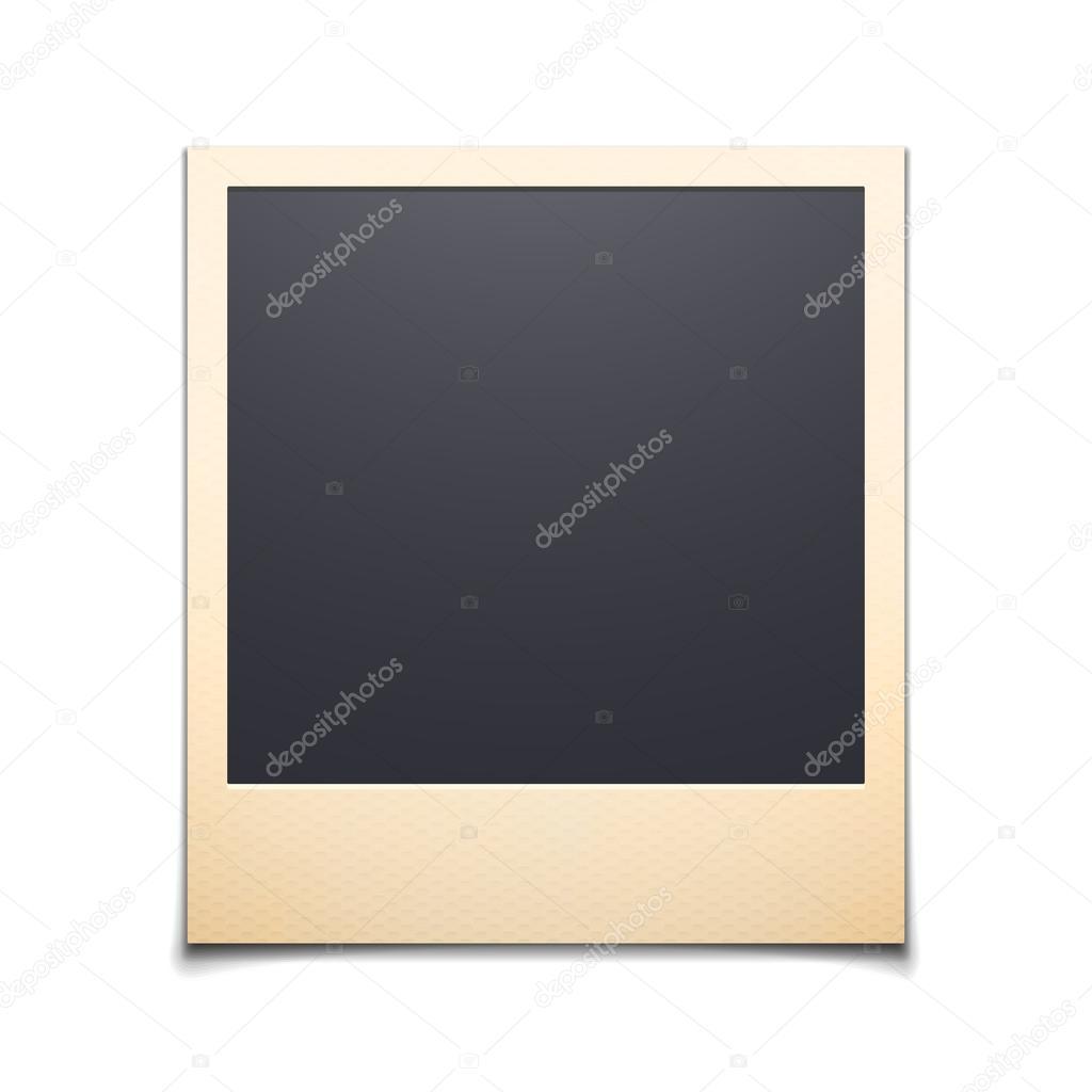 Polaroid photo frame isolated on white background vector illust photo frame isolated on white background jeuxipadfo Gallery