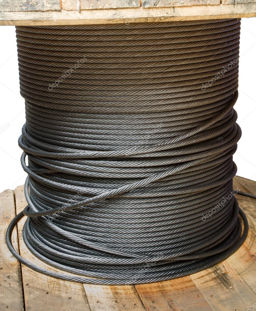 Wire rope cable spool — Stock Photo © tipchai #32430265