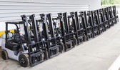 Photo Modern forklift truck