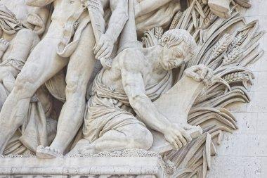 Arc de Triomphe Detail in Paris France