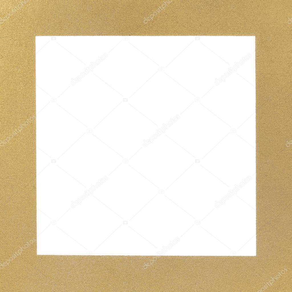 textura dorada y marco, con el cuadrado blanco — Fotos de Stock ...