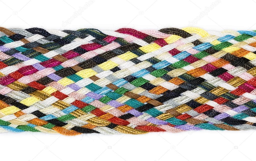 Striscia Di Tessuto.Striscia Di Tessuto Di Cotone Multicolore Foto Stock