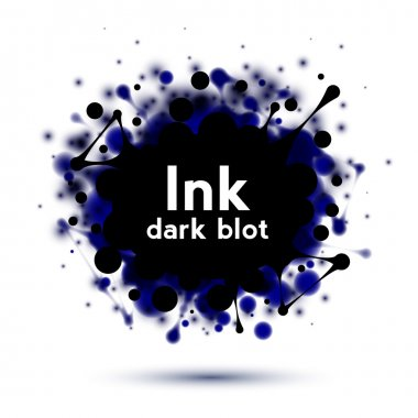 Realistic ink splash banner isolated on white clip art vector