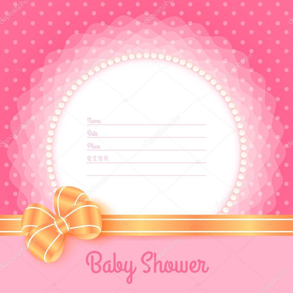 plantilla de tarjeta para baby shower — Archivo Imágenes Vectoriales ...