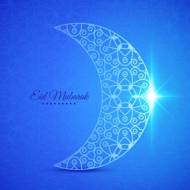 Moon for Muslim community festival Eid Mubarak