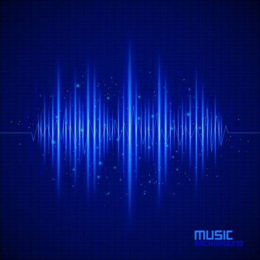 Music background with equalizer. Vector illustration stock vector