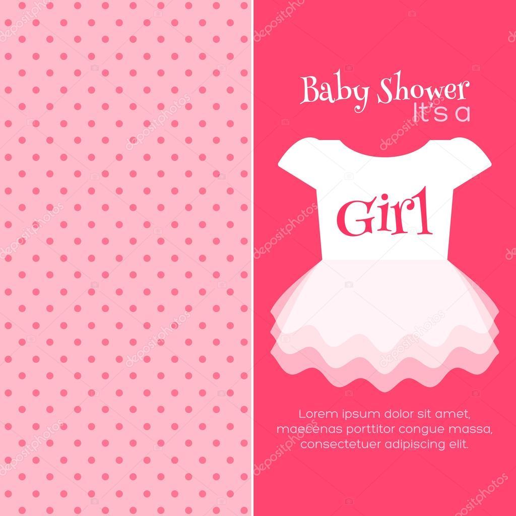 plantilla de invitación de ducha de bebé — Vector de stock ...